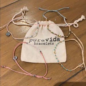 Lot of (4) Pura Vida bracelets